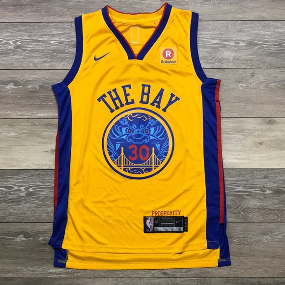 quality design 03161 92a51 Steph Curry THE BAY Nike Warriors City Jersey NWT